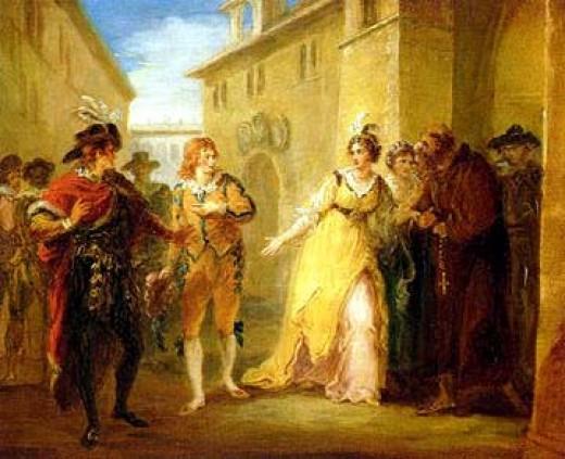 A scene from Twelfth Night by William Hamilton