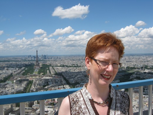 On the top of la Tour Montparnasse  - see the Eiffel Tower down below?