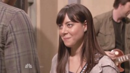 April Ludgate smiling  3