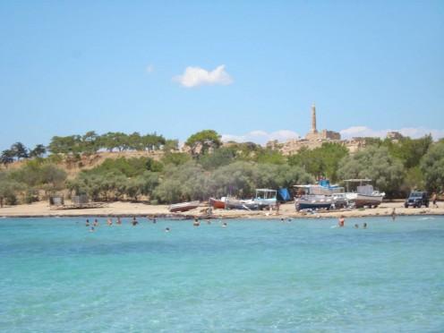 Ancient Aegina city.