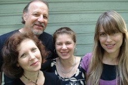"Julie Last, Tom Mank, Sera Smolen and Kirsti Gholson--- Four crucial components of Mank & Smolen's ""Where the Sun Meets the Blue"""