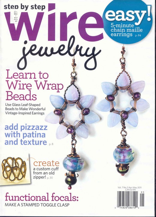 Step by Step Wire Jewelry Magazine.  April - May 2011.  Vol7No2