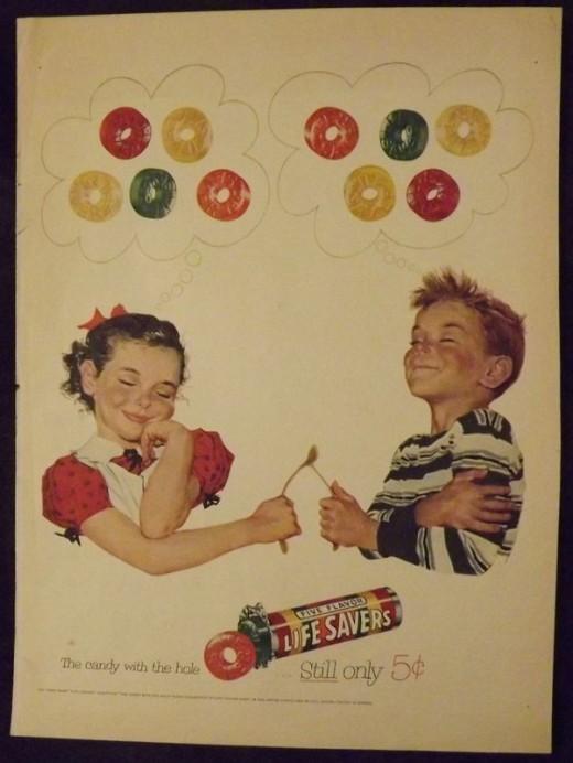 1953 Life Savers Ad