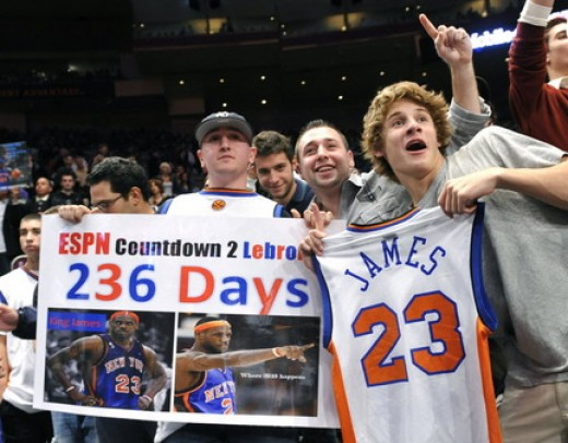 The possibility of LeBron James in MSG had New York basketball fans buzzing.