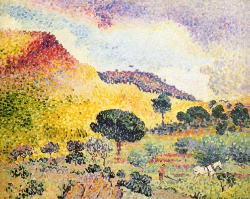 """La Chaîne des Maures"" (Place name), Henri-Edmond Cross, 1907"