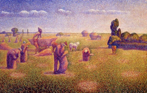 """Les Pêcheurs"" (""The Harvesters""), Charles Angrand, 1892"