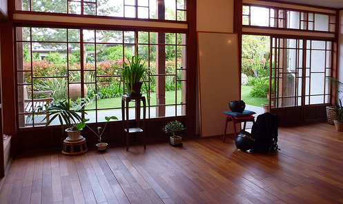 Take an unused space and easily convert it into a yoga studio.