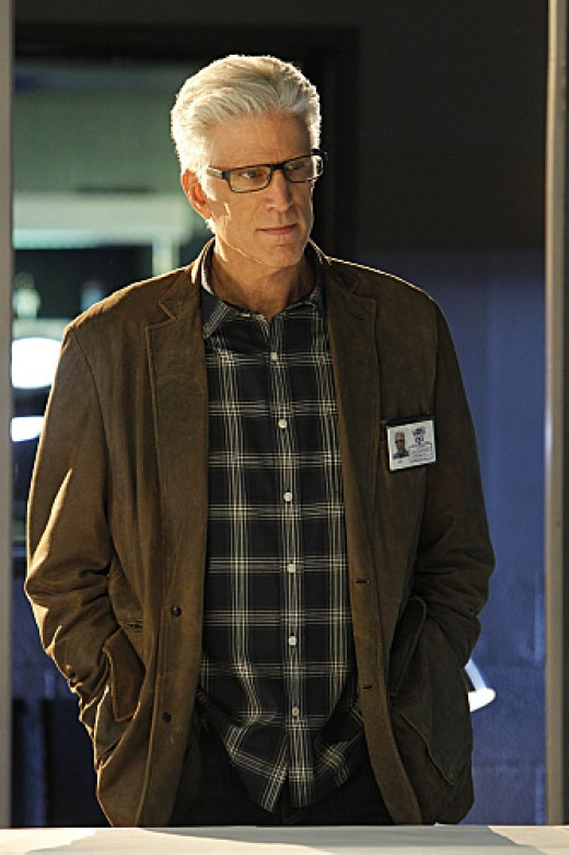 "Danson searches for evidence on ""CSI."""