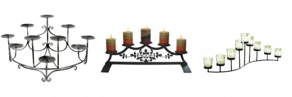 Fireplace Candle Holders Iron Hearth Candelabra Stands