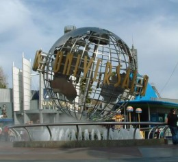 The famous globe at Universal Studios.