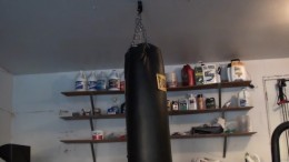 The heavy bag hanging from your ceiling mounting bracket.