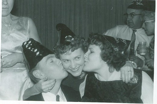 young love at a New Years Eve Party in 1961