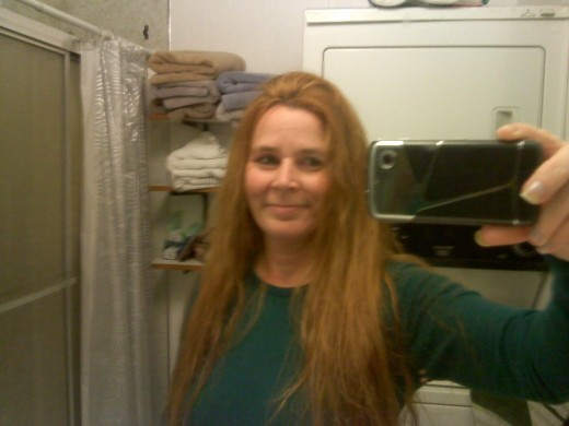 me with bright orange hair after the oops hair color remover
