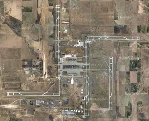 The layout of the runways of Denver International Airport are said to resemble a swastika. What do you think?