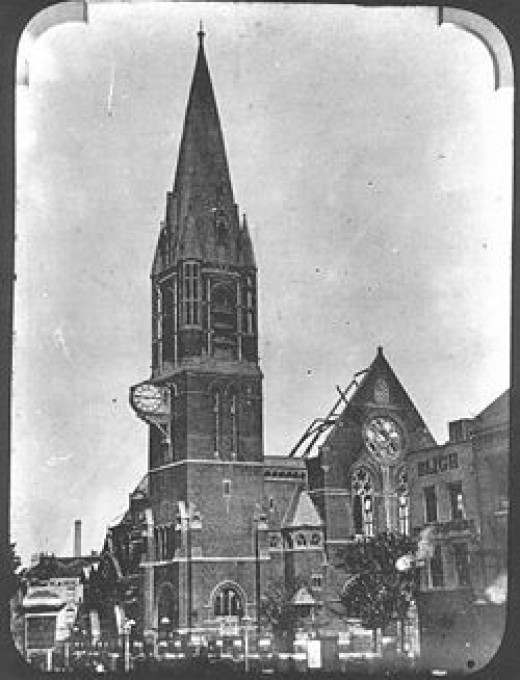 For 600 years this church stood in Whitechapel. In 1880 it burned to the ground in mysterious circumstances. It was rebuilt by 1882.