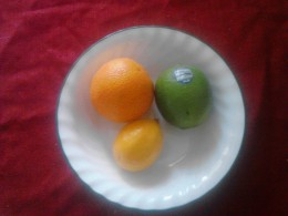 This goes against the logic that limes are smaller than lemons and that oranges are much larger than limes.  Pictured are a Cara Cara orange, a lime and Meyer lemon.