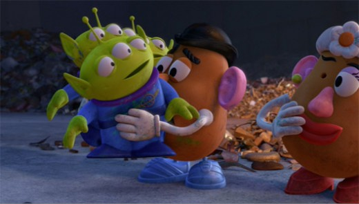Aliens with Mr. Potato Head