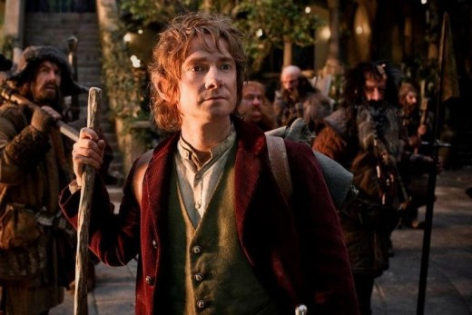 Bilbo Baggins (Martin Freeman) and the Dwarves