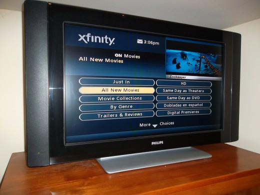 Cable service providers have a selection of free movies, in addition to movie rentals for a fee.