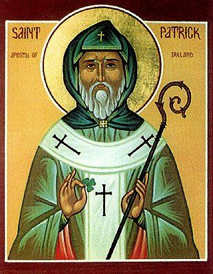 Artist depiction of Saint Patrick