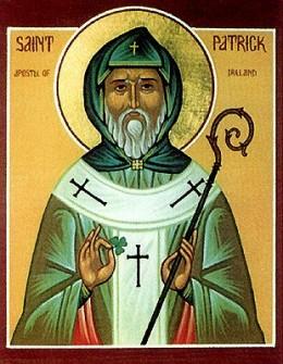 Depiction of St Patrick