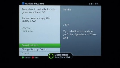 Download and install an update if one is available.