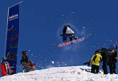 Snowboarders in Iran