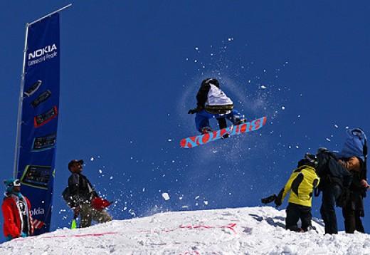 Snowboarders in Iran