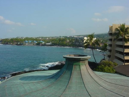 View from our room at the Royal Kona Resort