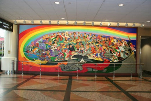 Denver international airport conspiracy the murals for Denver mural conspiracy