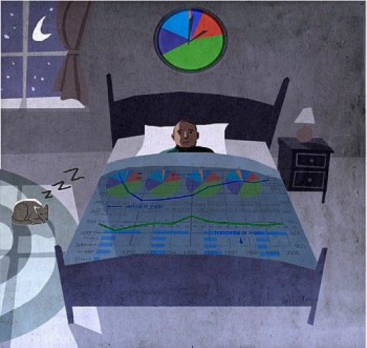 The cause of insomnia often can be stimulating activities (like email checking for example) just before bedtime.