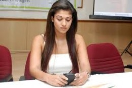Actress Nayanthara in Sify.com