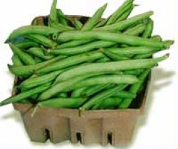 A Carton Of Green Beans For Sale In This Photo