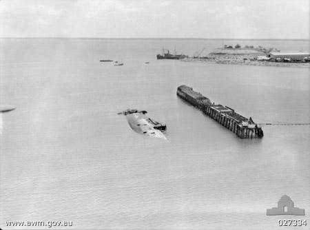 Darwin Harbour after the bombing