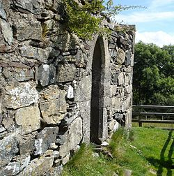Remains of St Columba's church in Gartan, Co Donegal