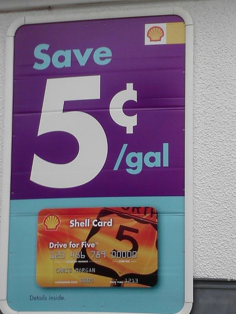 Gas savings at a gas station