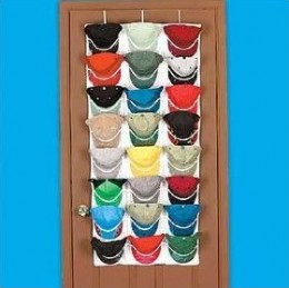 Baseball cap racks and holders over the door and closet for Baseball hat storage solutions