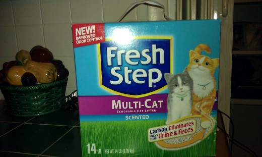 Fresh Step cat litter.