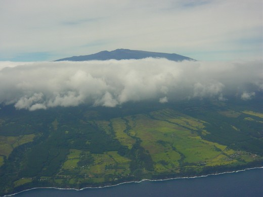 The Mountains of the Big Island from the Air