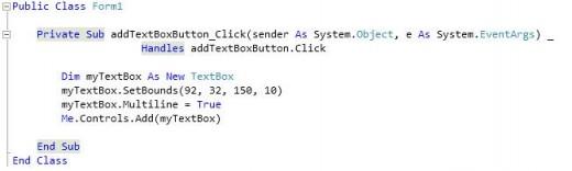 TextBox Control Code Example So Far