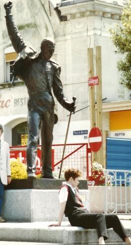 Freddie Mercury statue in Montreux