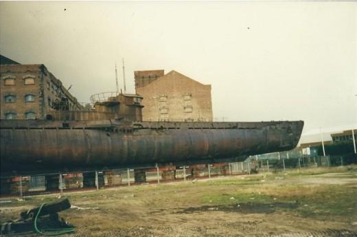 U534 German U boat on Wallasey docks