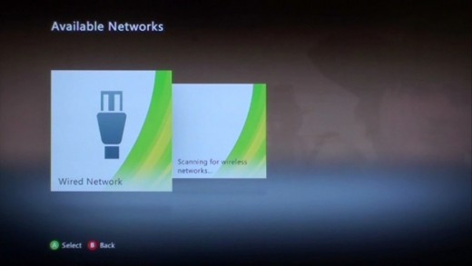 Initially, you'll only see two options at the Available Networks screen.
