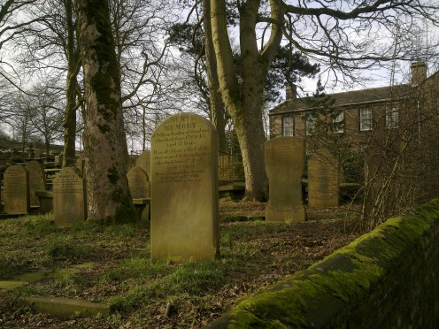 Haworth church graveyard