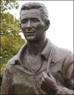 Local interest - local boy, statue of Brian Clough at Dorman Museum