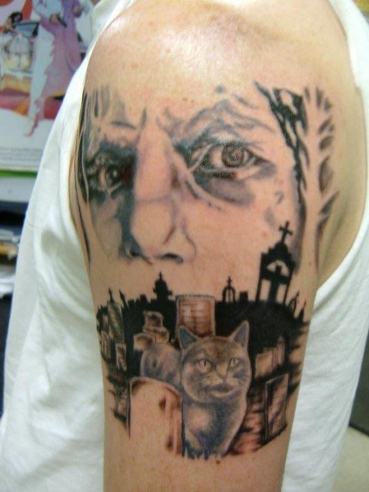 Cemetery graveyard tattoos hubpages for Cemetery tattoo pics