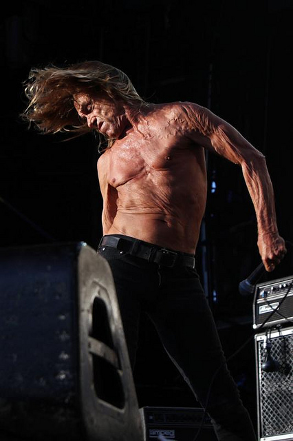 IGGY POP, A FAVORITE AMONG DANCE CLUB FANS, PERFORMS AT CLUBS WHEN HE IS NOT DOING A MOVIE.