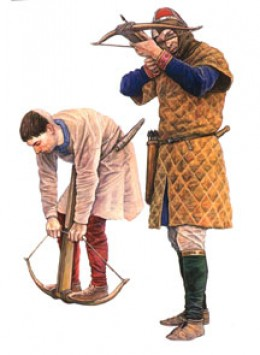 Another weapon the Normans brought for which there was no answer: the crossbow. When conditions were right they were lethal, the bolts capable of piercing and cracking shields.