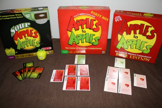 So many versions to choose from! There is never a dull moment during Apples to Apples.