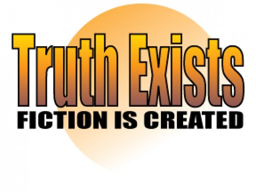 Truth stands alone and cannot be altered however fiction is constantly changing.